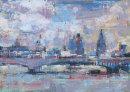 City Skyline over Waterloo Bridge II