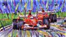 Schumacher Barrichello (28cm x 18cm)