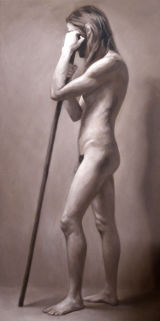 Anton - grisaille of a male nude