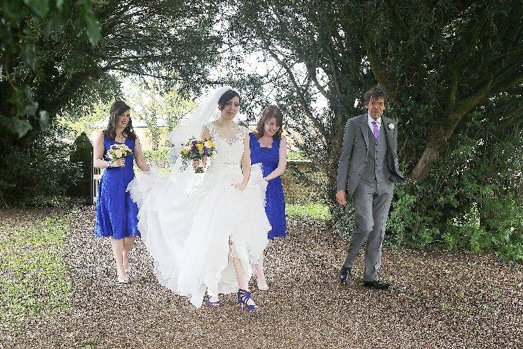 Brides procession!