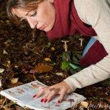 Jennie looking at 5 species of fungi at Burnham Beeches-0024