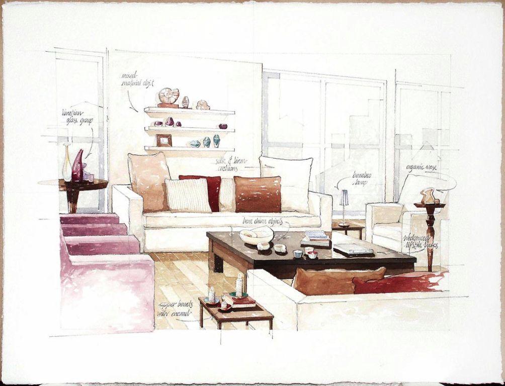 contemp lounge Illustration