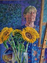 Reflection with sunflowers 2015