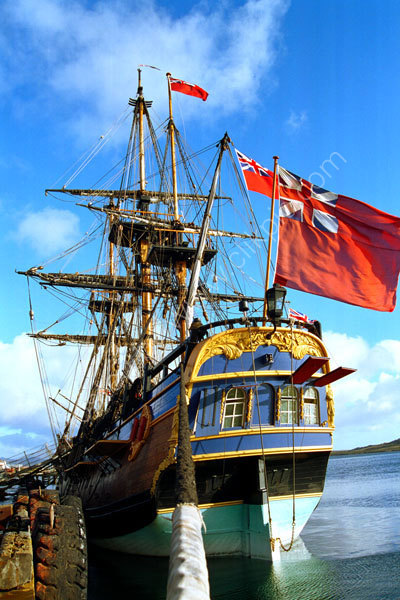 The Barque Endeavour, Stern Ensign Flag 1
