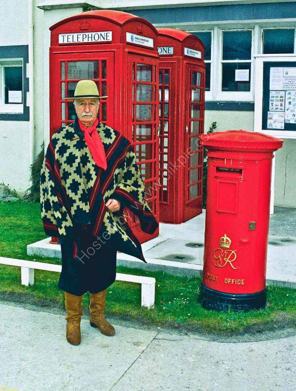 Argentine Gaucho at Stanley-Post Office