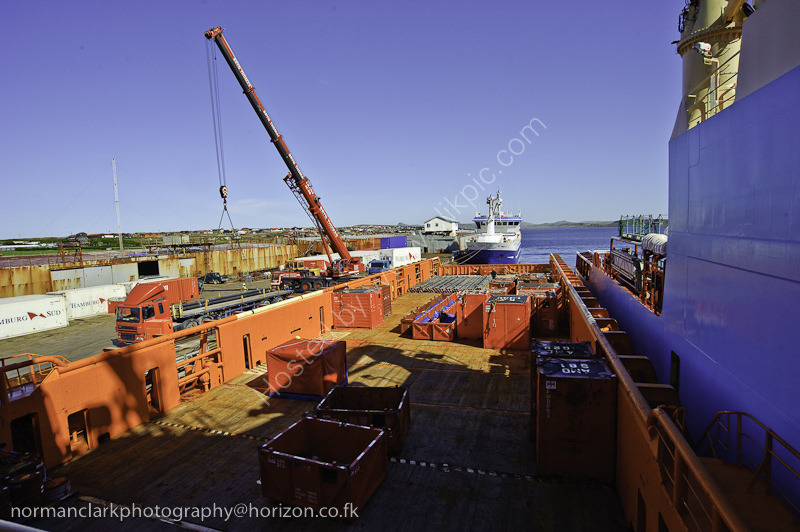 Oil Exploration-5198w<br> Tug being Loaded with Support Equipment