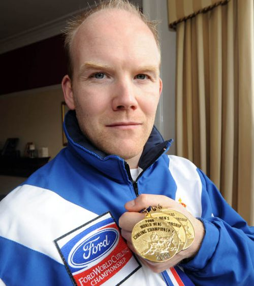 Ewan MacDonald, triple World Gold Curling Champion