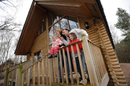 Kaye Adams and family at Macdonald Highland Resort