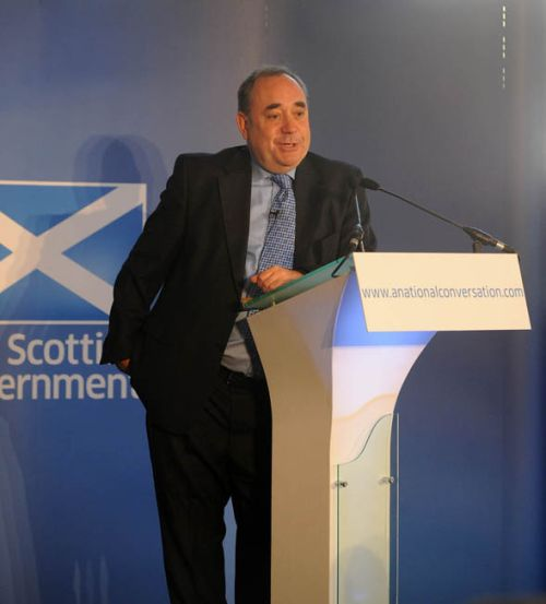Alex Salmond at the National Conversation, Inverness