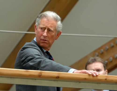 Prince Charles at Opening of Forestry Commission Building in Inverness