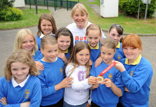 Olympic Gold Winning Sailor Sarah Ayton at Raigmore Primary School