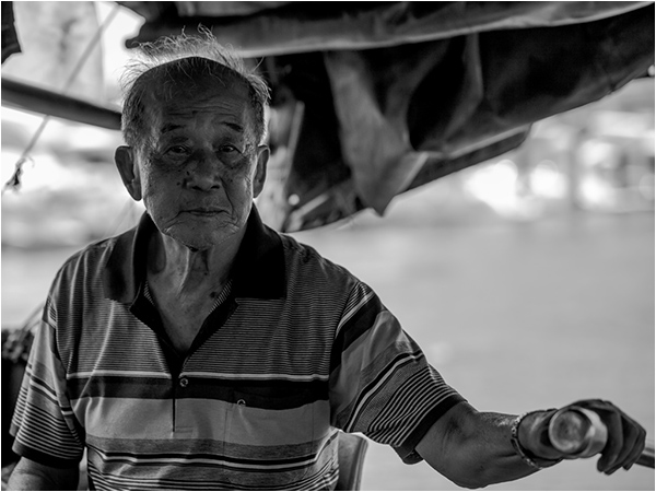 Sampan Owner, Hong Kong