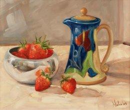 Bulgarian Cream Jug and Strawberries