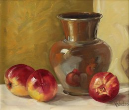 Nectarines and Pottery