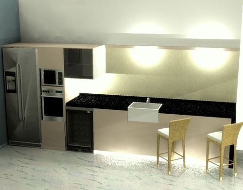 3D drawing of a kitchen
