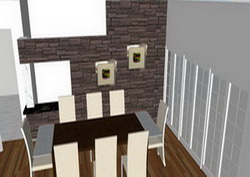 3D Drawing of a dining room