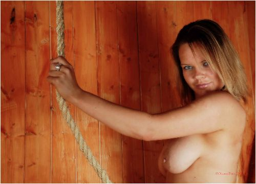 Jas - Topless in the barn
