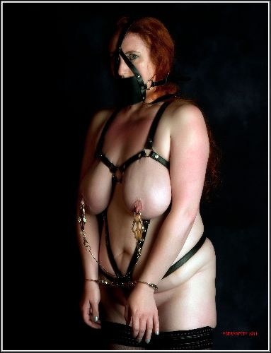 Serena - Gagged, clamped and cuffed