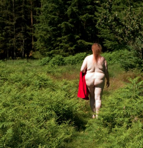 BBW Willow - Walking as nude as the day she was born