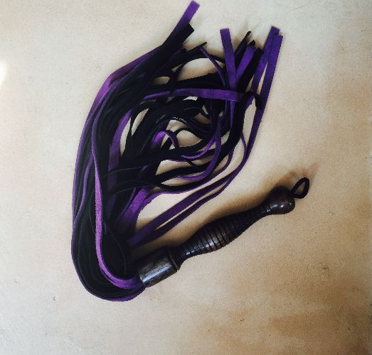 Purple and black suede flogger from Jack's Floggers