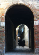 Archway with couple