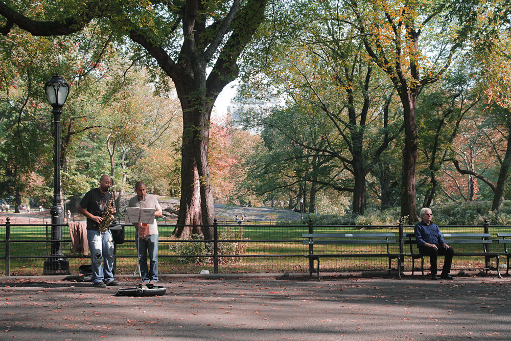 Busking in Central Park