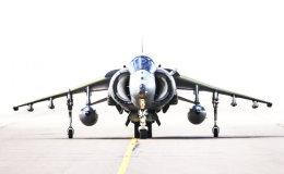 Harrier taxiing