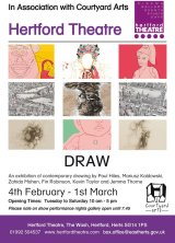 Group show of Drawings currently on show in Hertford until 1st March 2014