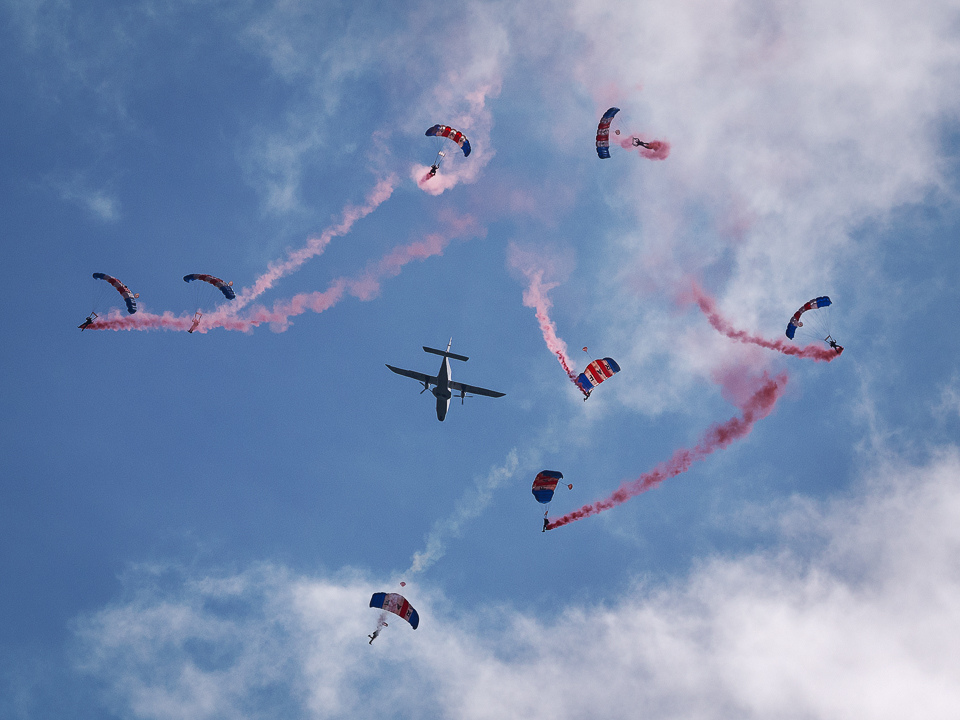 RAF Falcons at the Scottish Airshow