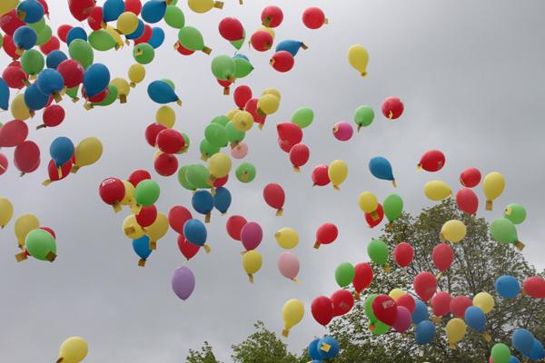 Start of the balloon race