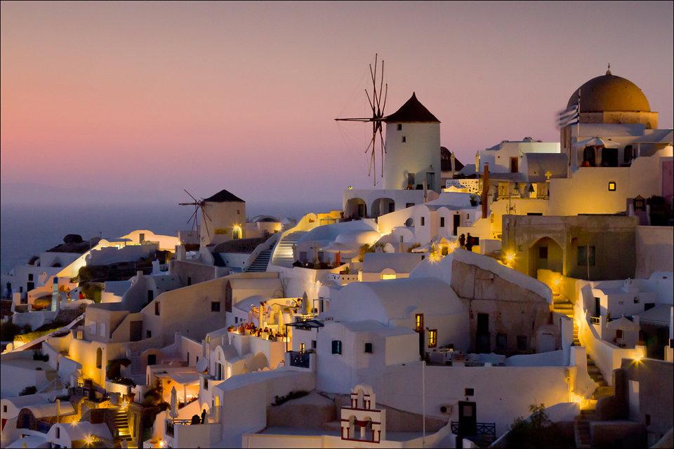 Twilight Santorini