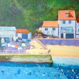 The Boatyard, Staithes (Acrylic on Box Canvas)