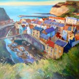 Evening Light, Staithes (Acrylic on Box Canvas)
