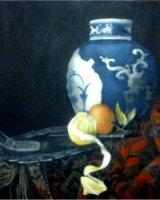 "Calling Mr Kalf, acrylic on canvas, 8"" x 8"", 2010"
