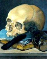 """Calling Mr Claesz, acrylic on canvas, 8"""" x 8"""", 2010"""
