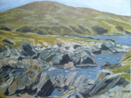 From high, Kintra, Islay
