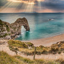 Sunbeams at Durdle Door
