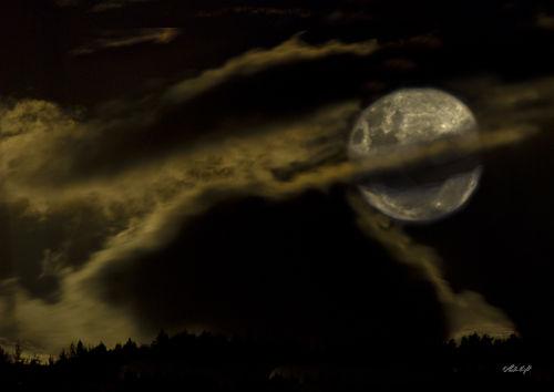 Full moon over Arapaepae Ridge, 0998