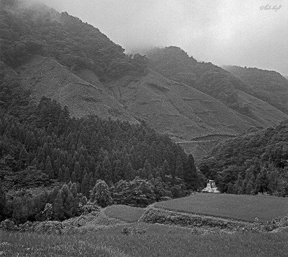 Noto Peninsular rice fields and waterfall