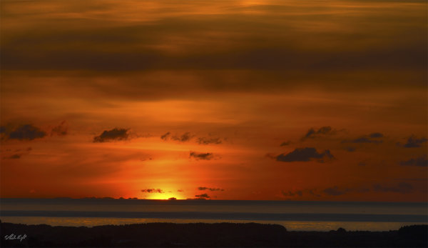 Sunset over Waikawa Beach 1494