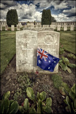 Side by Side in Tyne Cot Cemetery, buried where they fell