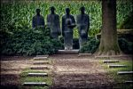 Mourners at Langemarck German Cemetery