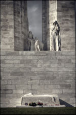 Mother Canada looking down at her fallen sons at Vimy Ridge