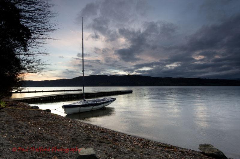 Sunset over lake Windermere