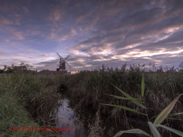 Evening Skies over Cley Mill 2