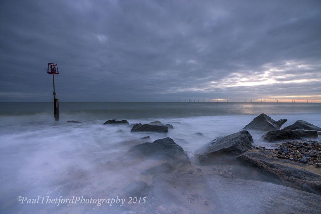 Dawn Caister on sea