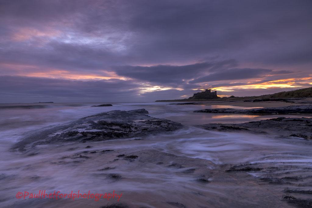 Dawn Bamburgh Castle
