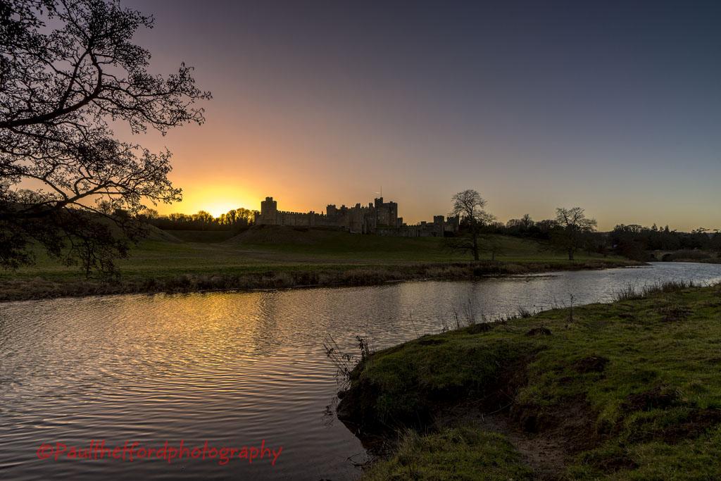 Alnwick Castle sunset