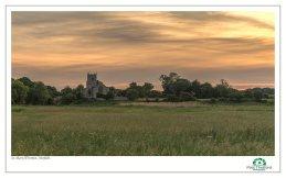 Wiveton Church across the Marsh