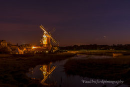 Cley mill under the stars